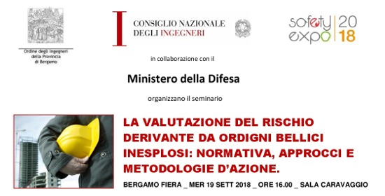 Seminario SafetyExpo Bergamo _ Valutazione Rischio Ordigni Bellici _ Mer 19 Settembre-001